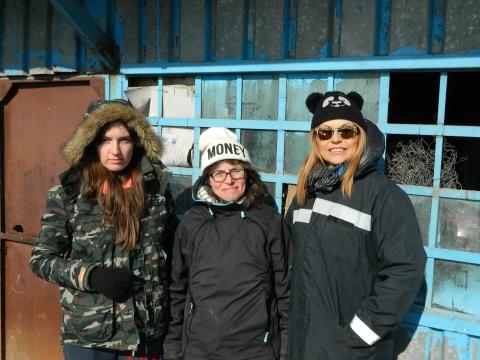 Muriel with Lolita and Dana