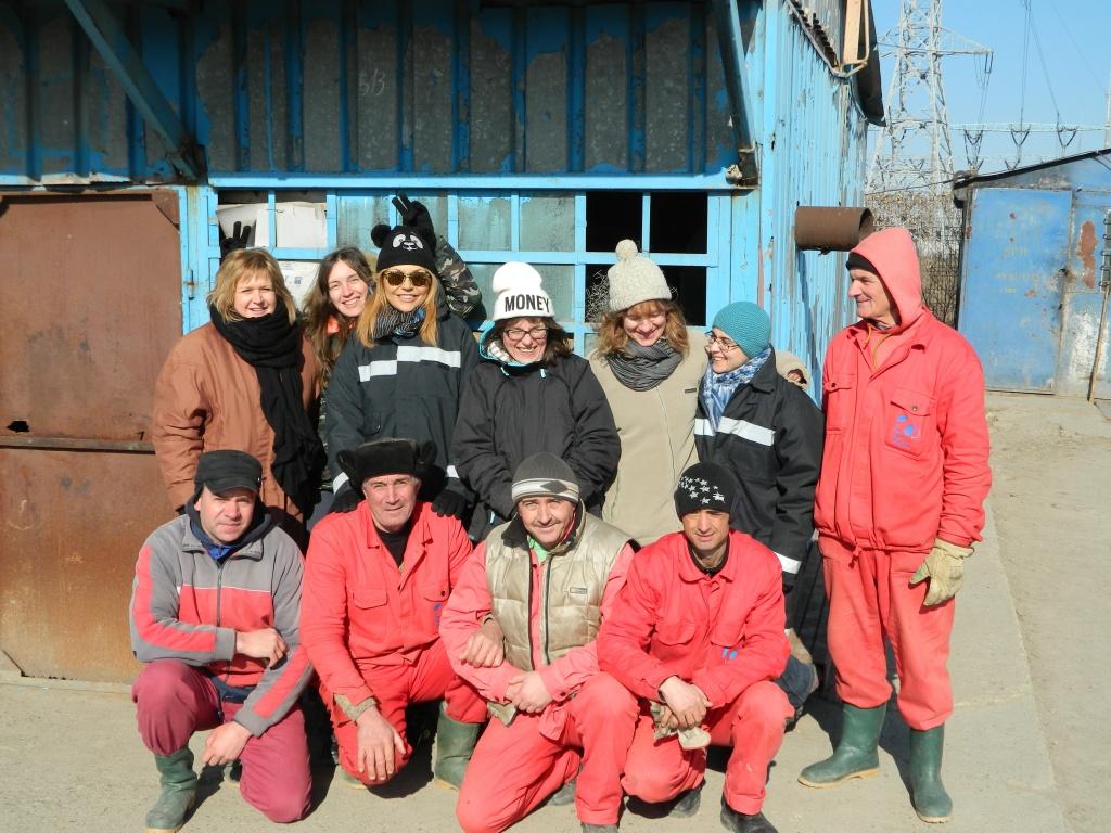 L'equipe ARS et l'equipe roumaine